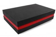 Premium-Geschenkbox - Geschenkverpackung Made in Germany (Schwarz, Rot, Schwarz) 41x9x31 cm