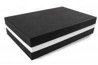 Premium-Geschenkbox - Geschenkverpackung Made in Germany (Schwarz, Weiß, Schwarz) 41x9x31 cm