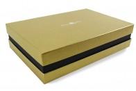 Premium-Geschenkbox - Geschenkverpackung Made in Germany (Gold, Schwarz, Gold) 41x9x31 cm