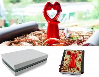 Valentinstagsgeschenk Geschenkbox mit afrikanischer Figur