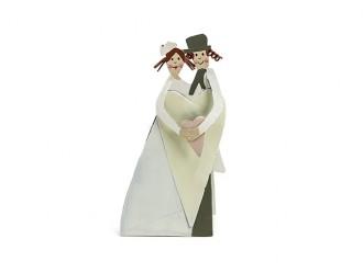 Deko Brautpaar (Verwendung als Bildhalter möglich)