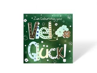 """Geburtstagskarte """"Zum Geburtstag ganz viel Glück"""""""