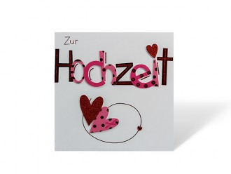 """Hochzeitskarte """"Zur Hochzeit"""" in rot"""