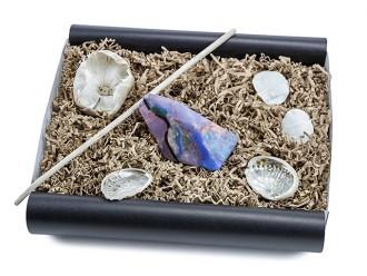 """Geschenkbox """"schwarzer Opal"""" (SoapRocks """"Schwarzer Opal"""" antibakterielle Naturseife für hochwertige Gesichts- und Körperpflege) Beauty Geschenkset"""