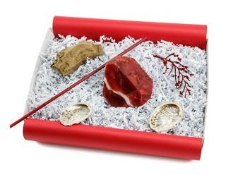 """Geschenkbox """"Stern Rubin"""" (SoapRocks """"Stern Rubin"""" antibakterielle Naturseife für hochwertige Gesichts- und Körperpflege) Beautybox"""