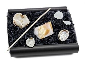 """Geschenkbox """"Orientalischer Alabaster"""" (SoapRocks """"Orientalischer Alabaster"""" antibakterielle Naturseife für hochwertige Gesichts- und Körperpflege) Seifenset für Sie und Ihn"""
