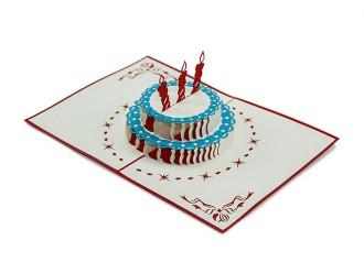 3D Pop-Up Klapp-Karte zum Geburtstag | Geburtstagskarte oder Einladung
