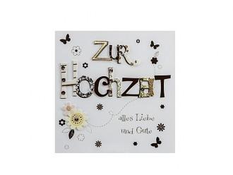 """Hochzeitskarte """"Zur Hochzeit"""" in gold"""