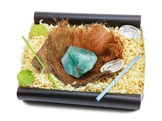 """Geschenkbox """"Jade"""" mit Bananenblatt - Beauty Geschenk"""