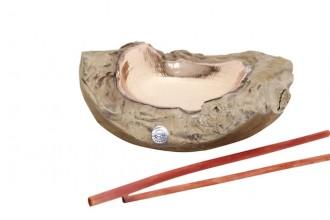 James Cook, Teak-Kupferschale Teakschale mit Kupfereinsatz, individuell in Handarbeit gefertigt.