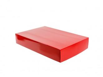 "Stülpfaltschachtel Stülpdeckelkarton ""Classic"" 33x22x6cm rot"