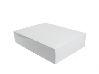 """Stülpfaltschachtel Stülpdeckelkarton """"Classic"""" 41x31x9cm weiß"""