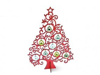 Tannenbaum 40 cm rot - Weihnachtsdeko