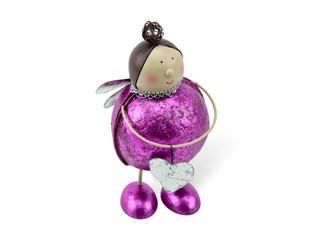 Aufsteller Engel pink metallic mit Herz