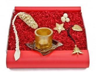Weihnachtsbox - Geschenkset mit Dekoschale und Teelichthalter