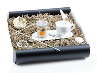 """Geschenkbox """"Heisse Liebe"""" Landtee (Kaffeeset """"Cocina"""" + Landtee + Cappuccino Designer Löffel) Geschenk für Männer"""