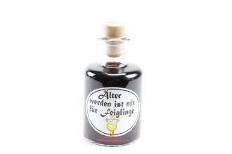 """Apotheker Weinflasche """"Älter werden ist nichts für Feiglinge"""" zum Geburtstag"""