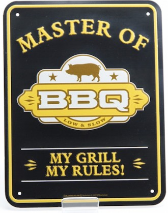 Blechschild - Master of BBQ