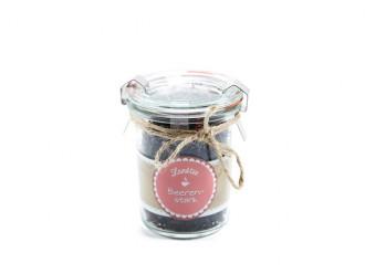 Landtee *Beerenstark* (Tolles Teeglas mit Vintage Aufkleber und leckerem Tee) Originelle Geschenkidee für Männer und Frauen