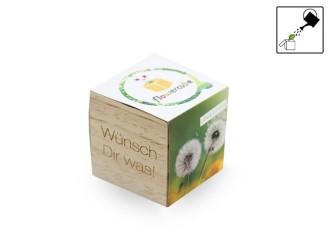Flowercube*Löwenzahn*Wünsch dir was* - 100 % ökologisch (Samen + Wachstumsgranulat) kleine Überraschung
