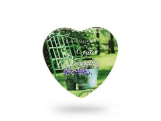 Herz-Teedose *Gute Besserung* (Tolle Geschenkidee für Frauen und Männer)