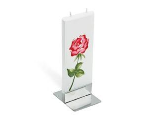 flatyz mehrdocht flachkerze romantische rote rose