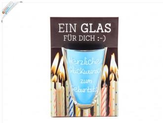 """Ein Glas für Dich – Trinkglas """"Herzlichen Glückwunsch zum Geburtstag"""""""