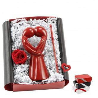 Liebesgeschenk  Geschenkbox Afrikanisch Küssende Figur