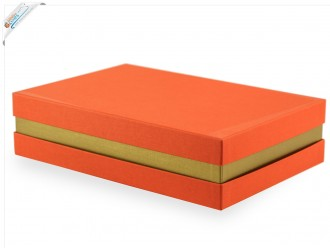 Geschenkbox Orange-Gold