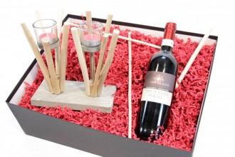 """Mitbringbox """"natur"""", Geschenkset - Geschenkset für Männer und Frauen - Schöne Weinset für Sie und Ihn"""