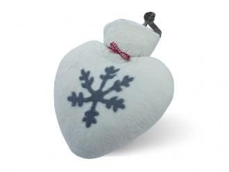 Herzwärmflasche 1 ltr. Schneeflockenmotiv
