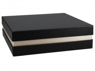Premium Geschenkverpackung Schwarz Gold
