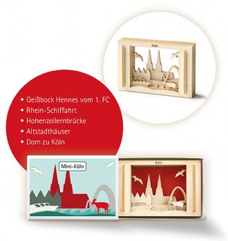 Streichholzschachtel Köln - 3D Motiv Sillhouette