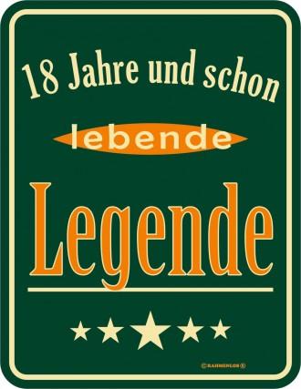 Lebende Legende Blechschild - Originelle Geschenkidee