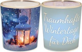 """Teelicht """"Traumhafte Wintertage für Dich"""""""