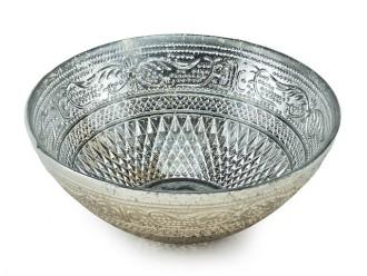 Schale Oriental klein Glas silber