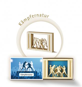 """Streichholzschachtel """"Kämpfernatur"""" 3D-Motiv - Kleines Mitbringsel"""