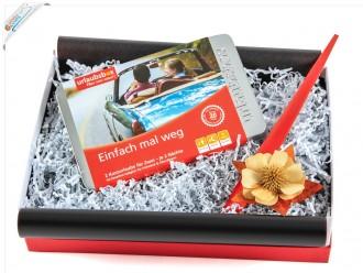 """Urlaubsbox Reisegutschein """"Einfach mal weg"""" Geschenkset"""