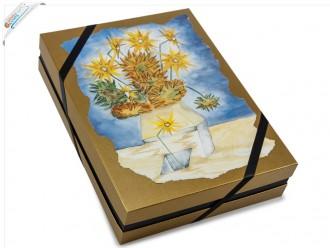 """Verpackungsdesign Deckeldesign Gemälde """"Blumen"""""""