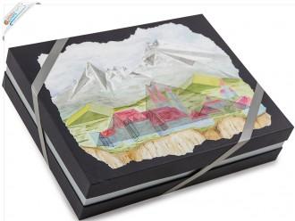 "Deckeldesign Gemälde ""Berge"""