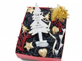Weihnachtsgeschenk Geschenkbox mit Deko