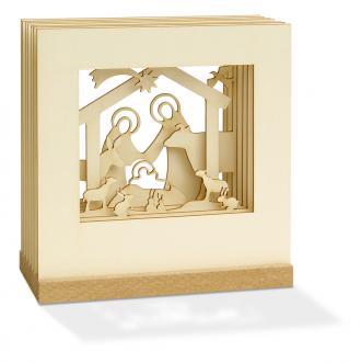 Weihnachtsgeschenk - 3D Motiv Krippe
