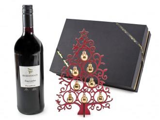 """Weihnachtsgeschenk - Geschenkset """"Christmas Tree"""" mit Glühwein und Deko-Tannenbaum"""