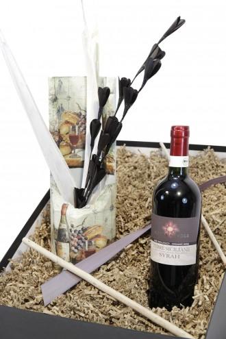 """Mitbringbox """"Wein"""" (Geschenkidee für Männer) kleines Set für Weintrinker"""