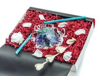 """Geschenkbox """"Azurit Malachit"""" (SoapRocks """"Azurit Malachit"""" antibakterielle Naturseife für hochwertige Gesichts- und Körperpflege) Beautygeschenk"""