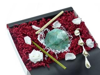 "Geschenkbox ""Jade"" (SoapRocks ""Jade"" antibakterielle Naturseife hilft gegen Akne und Neurodermitis) Originelles Hautpflege Geschenk"