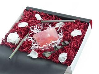 "Geschenkbox ""Rosenquarz"" (SoapRocks ""Rosenquarz"" antibakterielle Naturseife gegen Akne und Neurodermitis) Hautpflege Beautybox"