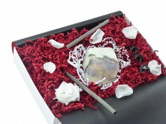 """Geschenkbox """"Marmor"""" (SoapRocks """"Marmor"""" antibakterielle Naturseife gegen Akne und Neurodermitis) Liebevolles Frauen Geschenk"""
