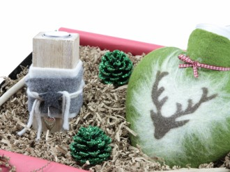 Winterbox - Geschenkset mit Wärmflasche und Teelichthalter