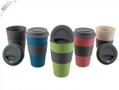 Kaffeebecher aus Bambus 330ml Coffee To Go Becher Natur-Design - Geschenkidee